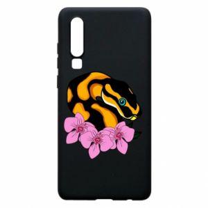 Etui na Huawei P30 Snake in flowers