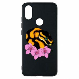 Etui na Xiaomi Mi A2 Snake in flowers