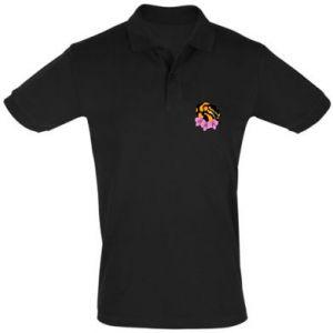 Koszulka Polo Snake in flowers