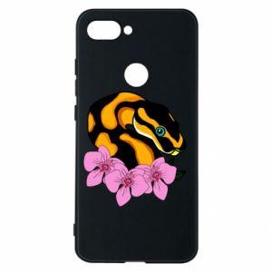 Etui na Xiaomi Mi8 Lite Snake in flowers