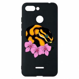 Etui na Xiaomi Redmi 6 Snake in flowers