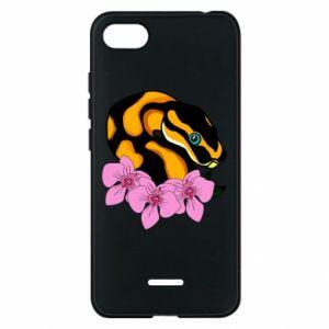 Etui na Xiaomi Redmi 6A Snake in flowers