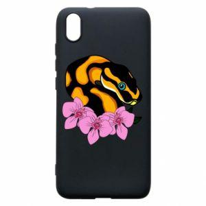 Etui na Xiaomi Redmi 7A Snake in flowers