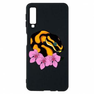 Etui na Samsung A7 2018 Snake in flowers