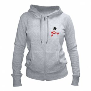 Damska bluza na zamek Snowman with a scarf