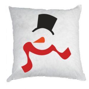 Poduszka Snowman with a scarf