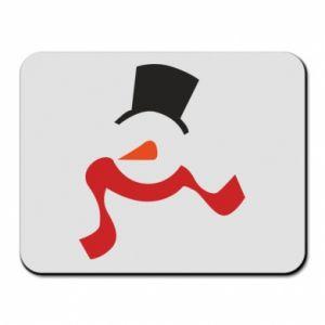 Podkładka pod mysz Snowman with a scarf