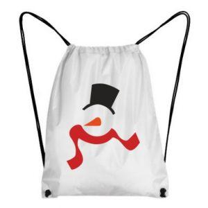 Plecak-worek Snowman with a scarf