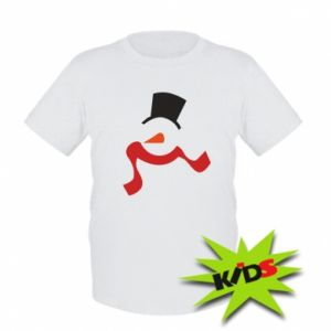 Dziecięcy T-shirt Snowman with a scarf