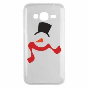 Etui na Samsung J3 2016 Snowman with a scarf