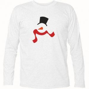 Koszulka z długim rękawem Snowman with a scarf