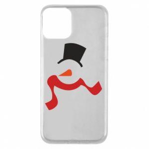 Etui na iPhone 11 Snowman with a scarf