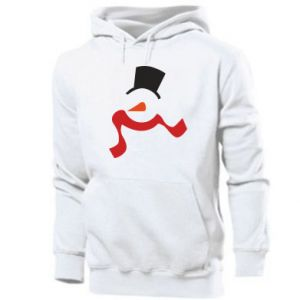 Men's hoodie Snowman with a scarf