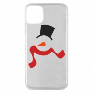 Etui na iPhone 11 Pro Snowman with a scarf