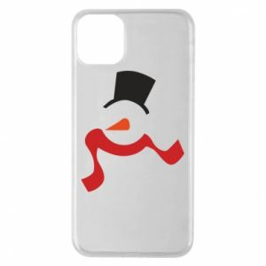 Etui na iPhone 11 Pro Max Snowman with a scarf