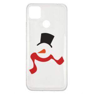 Xiaomi Redmi 9c Case Snowman with a scarf