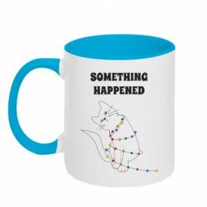 Two-toned mug Something happened