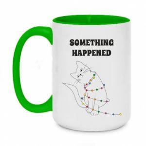 Two-toned mug 450ml Something happened