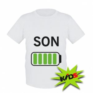 Kids T-shirt Son charge
