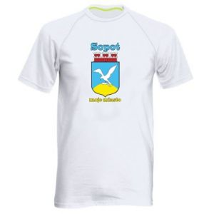 Men's sports t-shirt Sopot my city