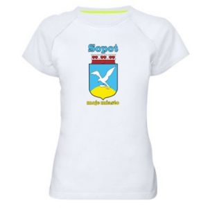Women's sports t-shirt Sopot my city