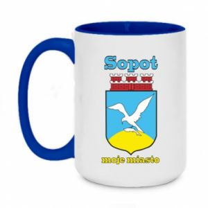 Two-toned mug 450ml Sopot my city