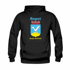 Bluza z kapturem dziecięca Sopot moje miasto