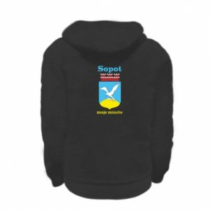Kid's zipped hoodie % print% Sopot my city