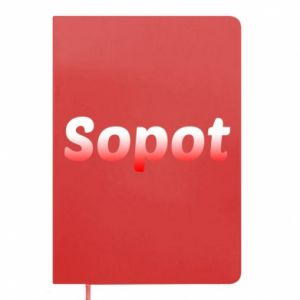 "Damska koszulka sportowa ""I love Sopot"" z symbolem - PrintSalon"