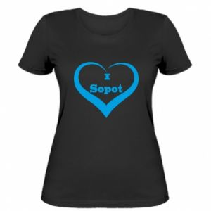 Women's t-shirt I love Sopot