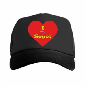 "Trucker hat ""I love Sopot"" with symbol"