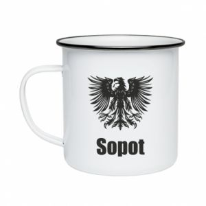 Enameled mug Sopot
