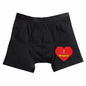 "Boxer trunks ""I love Sopot"" with symbol"
