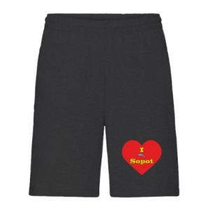 "Men's shorts ""I love Sopot"" with symbol"
