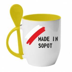 Kubek z ceramiczną łyżeczką Made in Sopot