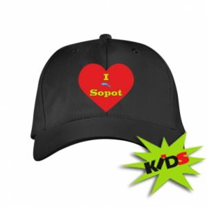 "Kids' cap ""I love Sopot"" with symbol"