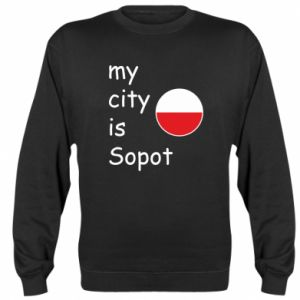 Bluza (raglan) My city is Sopot