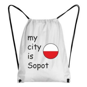 Plecak-worek My city is Sopot