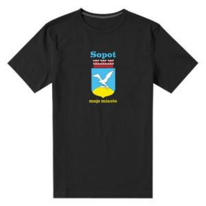 Men's premium t-shirt Sopot my city
