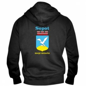 Men's zip up hoodie Sopot my city