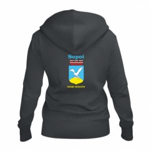 Women's zip up hoodies Sopot my city