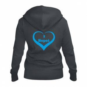 Women's zip up hoodies I love Sopot