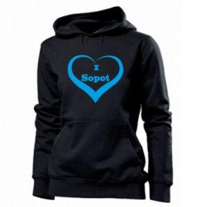 Women's hoodies I love Sopot