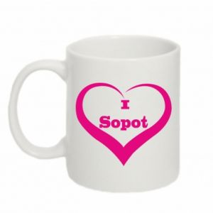Mug 330ml I love Sopot