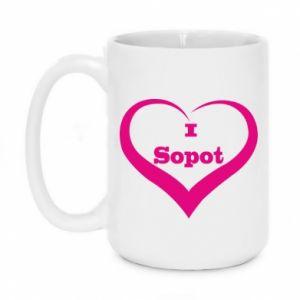 Kubek 450ml I love Sopot - PrintSalon