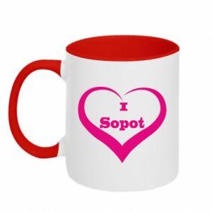 Kubek dwukolorowy I love Sopot - PrintSalon