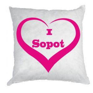 Pillow I love Sopot