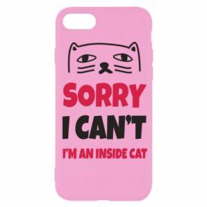 Etui na iPhone SE 2020 Sorry, i can't i'm an inside cat