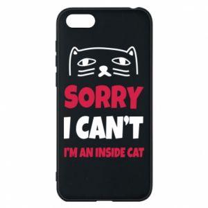 Etui na Huawei Y5 2018 Sorry, i can't i'm an inside cat
