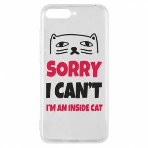 Etui na Huawei Y6 2018 Sorry, i can't i'm an inside cat